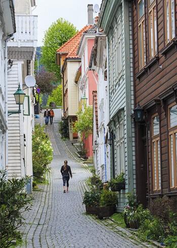Берген.Норвегия.Улицы.